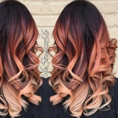 Versatile Yet Pretty Haircuts For Long Hair - New Hair Styles 2018 Fall Hair Color For Brunettes, Fall Hair Colors, Hair Dye Colors, Cute Hair Colors, Ombre Hair Color, Gorgeous Hair Color, Cool Hair Color, Apricot Hair, Cabelo Rose Gold