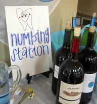 Idea for a drink station at a dental graduation. #dentistry
