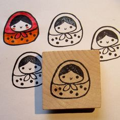 Matrioshka hand carved rubber | http://amazingstampgallery.blogspot.com
