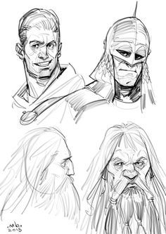 Borislav Mitkov - Illustration/Concept Art: Characters sketches