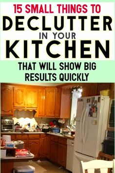 Kitchen Storage and Organization Ideas To Declutter Even Small Kitchens - an uncluttered kitchen is the first step towards getting organized and STAYING organized when you're feeling overwhelmed - this list of 15 things you can throw away today is very helpful from the Decluttering Your Life DIY Organization blog... Let's Get Organized!