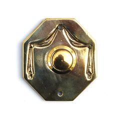 Antique Draped Curtains Doorbell Pushbutton Victorian Brass Electric Buzzer by KnockPlease on Etsy https://www.etsy.com/listing/201434150/antique-draped-curtains-doorbell