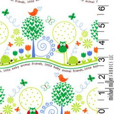 Animal Friends OWLS Primary  Michael Miller by spiceberrycottage, $8.95