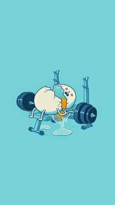 Workout Egg - cute funny iPhone wallpaper @mobile9