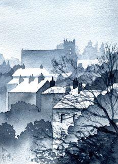 """Hawkshead in the Snow"" by Ian Scott Massie"
