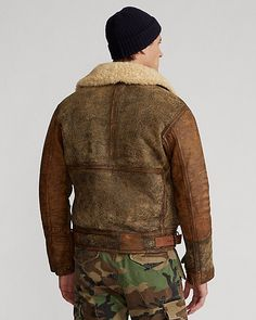 Mens Winter Sweaters, Men Sweater, Bomber Coat, Ralph Lauren, My Style, Leather, How To Wear, Jackets, Fashion Design