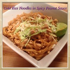 VeganMoFo Day #2: Cold Rice Noodles in Spicy Thai Peanut Sauce