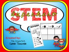 The Superhero STEM product contains a full color, partial color and black and white version of the following: -My Superhero STEM Journal cover -Design Process -Design Process Bookmarks Also included in this product are 2 versions of worksheets to accompany ANY STEM challenge you choose to do with your