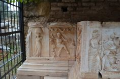 plaques from the theater of Nyssa, describing the myth of Dionysos