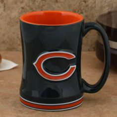 Chicago Bears 15 Ounce Sculpted Logo Relief Coffee Mug by Boelter Brands. Save 65 Off!. $13.90. For the truly devoted fan, we are proud to present this officially licensed Chicago Bears coffee mug from Boelter Brands. Now you can brighten up your office or home with your favorite NFL team's colors and logo while you enjoy your favorite beverage. The 15-ounce ceramic mug features a 3-D sculpted relief logo on each side, plus the team name printed on the handle. Perfect for c...