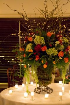 Flowers in the candle light