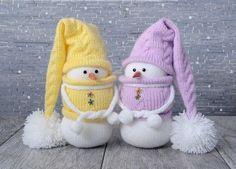 Вязаные снеговички. Идеи для вдохновения.