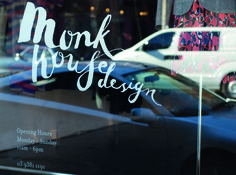 Monk House Design is a small boutique, a treasure trove of eclectic designers under the one roof. The identity we created illustrates this craftsmanship and demonstrates a sense of whimsy that suits the eclectic and fashion-driven philosophy of the brand.