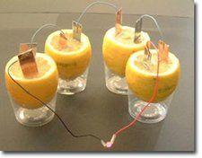 Electrochem: lemon battery, student worksheet questions