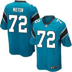 Men s Nike Carolina Panthers  72 Taylor Moton Game Blue Alternate NFL  Jersey Nike Elites 34c818428