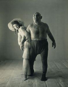 IRVING PENN, Dorian Leigh + Maurice Tillet, NYC 1946, Vintage silver print
