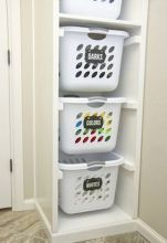Small laundry room storage and organization ideas (61)