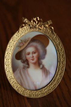 An antique miniature of Madame Elisabeth: