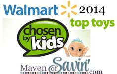 Walmart Chosen by Kids 2014 Top 20 Toys  So this is supposedly what kids say they will want for Christmas this year.  Are any of these on your Christmas list?