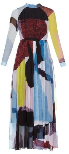 RACHEL COMEY Collage silk-chiffon dress