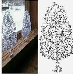 Witam:) To co wczoraj zobaczyłam na swojej tablicy na FB S Crochet Snowflake Pattern, Crochet Leaves, Crochet Motifs, Christmas Crochet Patterns, Crochet Snowflakes, Doily Patterns, Crochet Chart, Thread Crochet, Filet Crochet