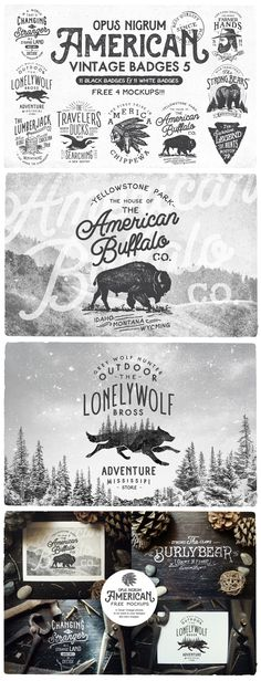 American Vintage Badges 5 by OpusNigrum