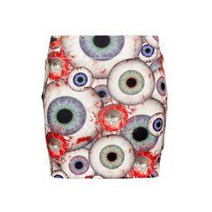 All eyes will be on you in the Kreepsville 666 'eyeball' mini skirt