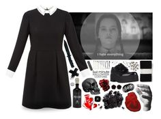 """""""Wednesday Addams"""" by sushilover8 ❤ liked on Polyvore featuring Tokyo Rose, Gap, Ted Baker, Harry Allen, Chloé, McCoy Design, Chanel, Jeffrey Campbell, Advantus and Erica Lyons"""