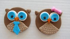 12 Twin Owl Cupcake Toppers EDIBLE via Etsy