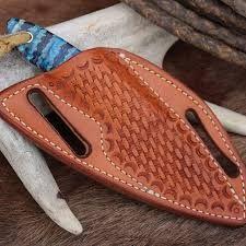 how to make a leather pocket knife sheath
