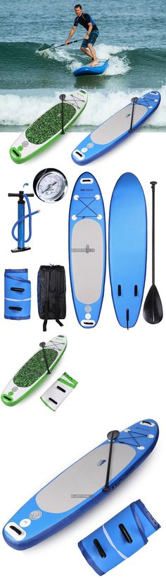 Stand Up Paddleboards 177504: Inflatable 10Ft Stand Up Inflatable Paddle Board >63In Adjustable Paddle 2Colors -> BUY IT NOW ONLY: $266.94 on eBay!