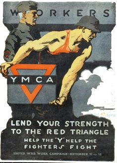 World War I Poster - It appears that dad spent lots of time at the YMCA.
