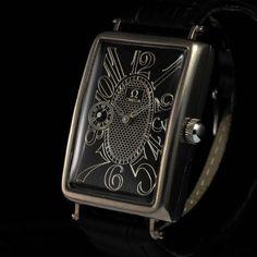 Mens 1917 OMEGA ART DeCo Vintage TONNEAU Watch RECTANGULAR CURVED & LONG