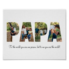 Papa Foto Collage Poster Collage Poster, Polaroid Film, Pictures, Guy Gifts, Father
