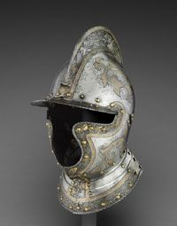 Burgonet (helmet)    Made in Augsburg, Germany, Europe  c. 1560    Attributed to the armorer Anton Peffenhauser, German (active Augsburg), master 1545, 1525 - 1603