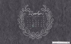 adored art: december desktop calendars | thoughts by natalie {image via Going Home To Roost}