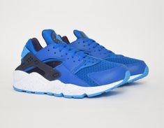 #Nike Air Huarache Blue #sneakers