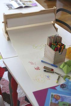 Ikea mala paper and paper holder Pull Down Shelf, Kids Art Easel, Cheap Tablecloths, Ikea Shopping, Ikea Kids, Classroom Setup, Drawing For Kids, Toddler Activities, Eye Candy
