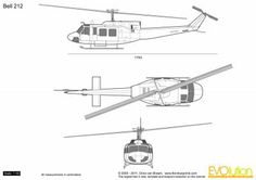 Bell 212, Bell Helicopter, Aviation Art, Blue Prints, Drawings, Air Planes, Cutaway, Tattoo, Car