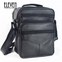 Hot Sale New 2016 Fashion Designer Men Shoulder Bags Genuine Leather Bags For Men Messenger Business Bag Black ,free shipping   Price: US $16.12   http://www.bestali.com/goto/32250317704/10