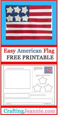 American Flag Crafts, American Symbols, Veterans Day Activities, Activities For Kids, Geography Activities, Group Activities, Kindergarten Crafts, Preschool Crafts, Preschool Ideas
