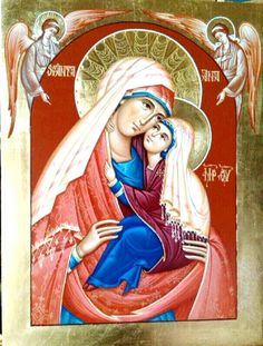 Icon of St. Anna and Blessed Virgin Mary.