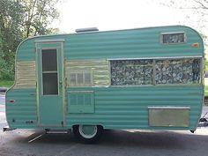 Aqua 1964 Kenskill Travel Trailer | vintage camper - caravan <O>