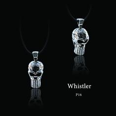 """ECKS """"Whistler"""" men's sterling silver skull whistle pendant. #ECKS #whistler #skull #skullwhistle #mensjewelry #atphoenixjewellers"""