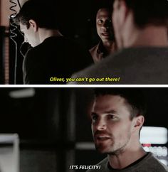"""Oliver and Diggle #Arrow #3x19 """"ITS FELICITY"""" He Loves Felicity #Olicity"""