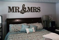 MR & MRS Wood LettersWall Décor-Painted Wood by MtHighWoodcrafts