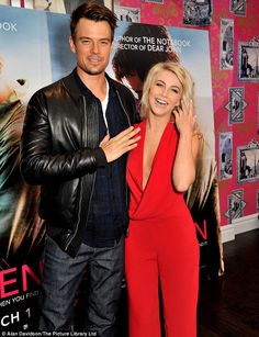 Nothing Safe (Haven) about that! Julianne Hough looks smoking in daring red jumpsuit at photocall for latest film with Josh Duhamel Julianne Hough Safe Haven, Far From Heaven, Stacy Ferguson, Bronze Skin, Red Jumpsuit, Josh Duhamel, How To Be Likeable, Beautiful Gorgeous, Handsome