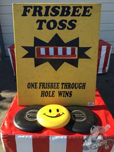 Guests will love to challenge each other with this old time carnival game. Try to send the Frisbee through the narrow opening to win this highly challenging game.