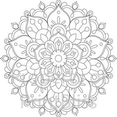 26. Flower Mandala printable coloring page. by PrintBliss on Etsy