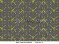 Simple modern linear flower inspired pattern - yellow on gray.  Can be used for…